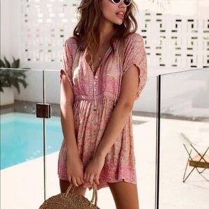 Spell & The Gypsy Poinciana Romper Cotton Candy